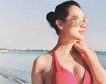 Mang bầu hơn 8 tháng, Hồ Hạnh Nhi tự tin khoe dáng với bikini