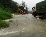 Quốc lộ 6 ngập sâu, chia cắt Hòa Bình và Sơn La - ảnh 1