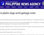 Sri Lanka cấm sử dụng túi nhựa