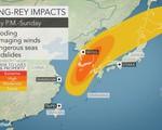 Bão Kong-rey tấn công Nhật Bản và Hàn Quốc