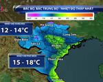 Không khí lạnh mạnh gây mưa rét cho hầu khắp Bắc Bộ, Bắc Trung Bộ