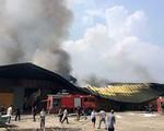 Cháy lớn tại xưởng gỗ rộng hơn 1.500m2 ở Hưng Yên