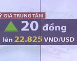 Tỷ giá trung tâm tăng mạnh