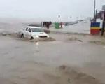 Lũ quét cuốn trôi xe hơi, nhà cửa ở Argentina
