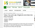 Đề nghị xử lý trang tin điện tử Songlamplus vì nghi liên quan đến vụ nữ sinh tự vẫn