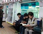 Hệ thống thư viện trên tàu điện tại Hàn Quốc