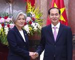 Chủ tịch nước Trần Đại Quang tiếp Bộ trưởng Bộ Ngoại giao Hàn Quốc