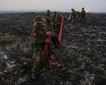 Cháy lớn tại bãi rác ở Myanmar