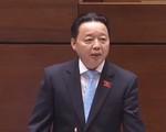 Toàn cảnh Bộ trưởng Bộ TN-MT Trần Hồng Hà trả lời chất vấn