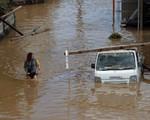 Khung cảnh hoang tàn sau trận mưa lũ lịch sử ở Nhật Bản