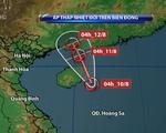 Vùng áp thấp mạnh lên thành áp thấp nhiệt đới