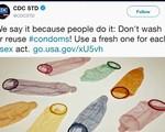 Khuyến cáo không nên rửa bao cao su và dùng lại
