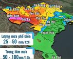 Vùng mưa lớn ở miền Bắc dịch chuyển sang phía Tây
