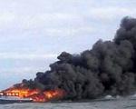 Cháy phà chở 147 người ở miền Trung Indonesia