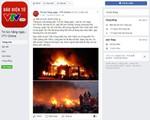 Facebook khóa trang page giả mạo VTV, đưa tin sai sự thật