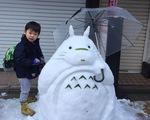 Ngộ nghĩnh những tác phẩm được tạo hình từ tuyết tại Nhật Bản