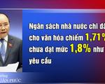 Chi ngân sách Nhà nước cho văn hóa chiếm 1,71#phantram