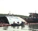 Vụ chìm tàu ở Cần Giờ: Phát hiện thêm 8 container dưới đáy sông Lòng Tàu
