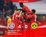 Bayern Munich 4-0 Dortmund: Lewandowski lập cú đúp, Bayern thắng ấn tượng