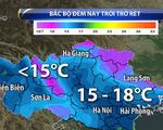 Không khí lạnh tràn về gây mưa cho miền Bắc
