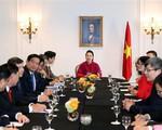 Chủ tịch Quốc hội Nguyễn Thị Kim Ngân gặp gỡ cộng đồng người Việt tại Pháp