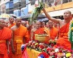 Tưng bừng lễ hội Bunpimay của người dân Lào