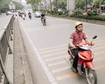 Kẻ gờ giảm tốc ở hầm Kim Liên, Hà Nội