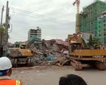 Sập tòa nhà 7 tầng đang thi công ở Campuchia