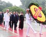 Lãnh đạo Đảng, Nhà nước dâng hương tưởng niệm các anh hùng liệt sỹ