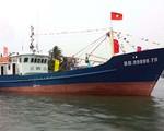 Tàu cá vỏ thép Bình Định chìm ngoài khơi biển Cam Ranh