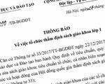 Bộ GD&ĐT thông báo tổ chức thẩm định sách giáo khoa lớp 1