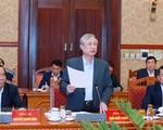 Đồng chí Trần Quốc Vượng chỉ đạo công tác tổ chức phục vụ Đại hội XIII