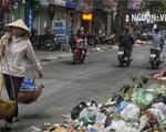Rác lại chất đống trên nhiều tuyến phố Hà Nội