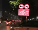 Bất hợp lý biển cấm phương tiện trên đường Lê Quang Đạo (Hà Nội)
