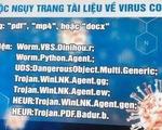 Cảnh báo mã độc nguy trang dưới tệp tin liên quan đến dịch COVID-19