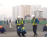 Gấp rút thi công dự án cầu cạn Mai Dịch - Nam Thăng Long