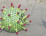 Độc đáo xe hình virus SARS-CoV-2