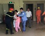 Cháy chung cư ở Đền Lừ, Hà Nội: Giải cứu 4 người mắc kẹt trong thang máy