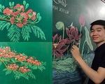 Thầy giáo 9X vẽ hoa phượng trên bảng phấn 'gây sốt' cộng đồng mạng