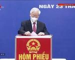 Trực tiếp Ngày bầu cử 23/5: Lãnh đạo Đảng, Nhà nước tiến hành bỏ phiếu