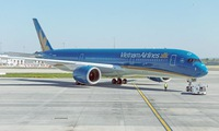 Vietnam Airlines' A350 takes off