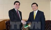Vietnamese President Truong Tan Sang meets leaders at UN Summit