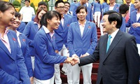 President lauds athletic feats