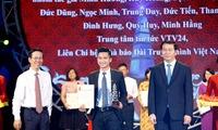 10th national awards honour journalists:  VTV's VTV24 won an A prize