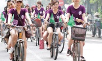 Bicycles encouraged in cities