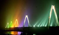 Hanoi turns Nhat Tan Bridge into art with new lighting