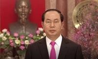President Tran Dai Quang extends New Year greetings