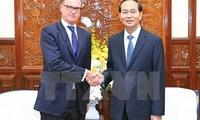 President Tran Dai Quang bids farewell to Austria Ambassador