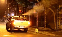 Hanoi continues to spray mosquito-killing chemicals