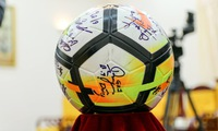 Vietnam U23 shirt and ball up for auction